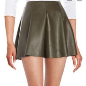 Design Lab Faux Leather Mini Skirt